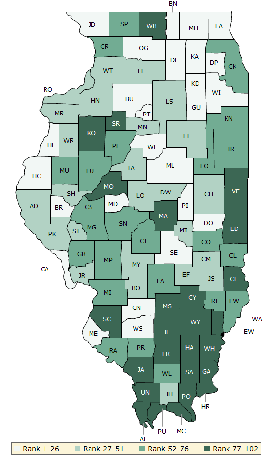 2016 Health Outcomes Illinois