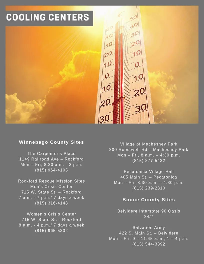 2019 Cooling Centers
